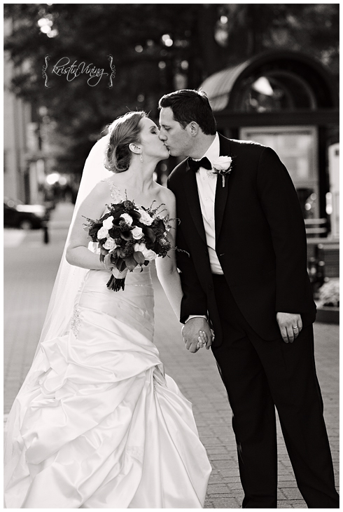 Just Married in Uptown Charlotte - Kristin Vining Photography