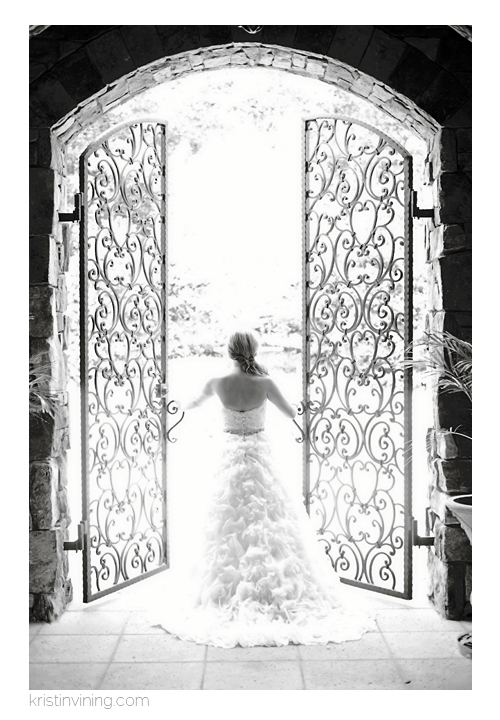 Black & White Bridal Portrait_Kristin VIning Photography